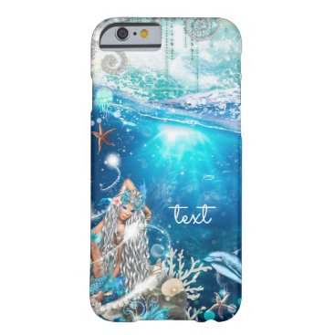 Beach Themed Mermaid Fantasy Blonde Enchanted Beach Barely There iPhone 6 Case