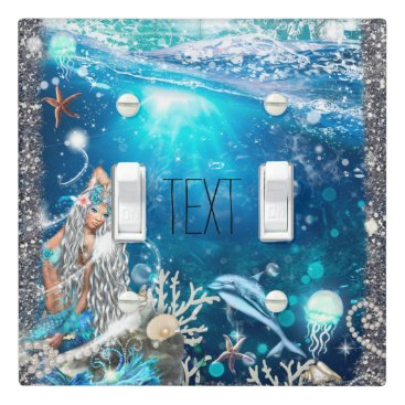 Beach Themed Mermaid Fantasy Enchanted Sea Blonde Hair Light Switch Cover