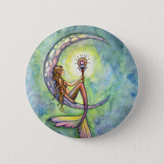 Mermaid Fantasy Fairy Art by  Molly Harrison Pinback Button