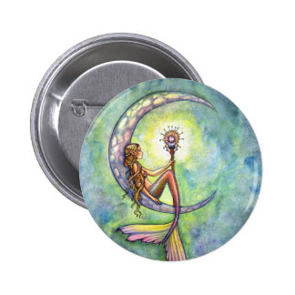 Mermaid Fantasy Fairy Art by  Molly Harrison Pinback Button