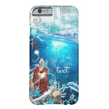 Beach Themed Mermaid Fantasy Red Head Enchanted Beach Barely There iPhone 6 Case