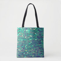 mermaid FAUX sequin pattern Tote Bag