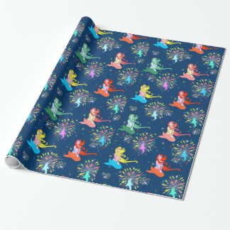 Mermaid Fireworks wrapping paper gift wrap