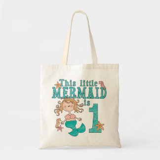 Mermaid First Birthday Tote Bag