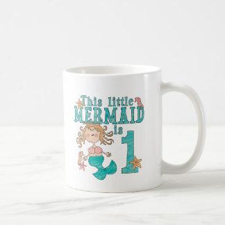 Mermaid First Birthday Coffee Mug
