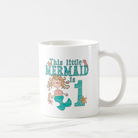 Mermaid First Birthday Coffee Mug