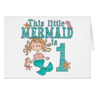 Mermaid First Birthday Invitations Card