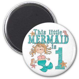 Mermaid First Birthday Fridge Magnets
