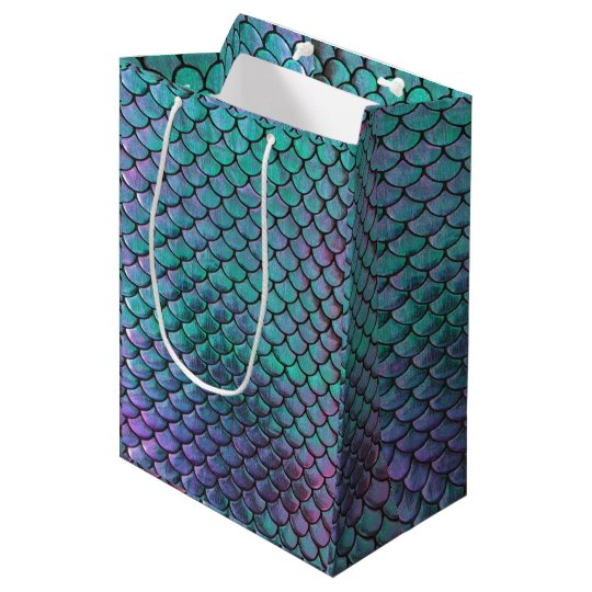 Mermaid Fish Scale Pattern Medium Gift Bag