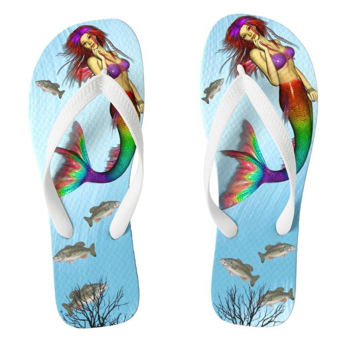 Flip flops with mermaid