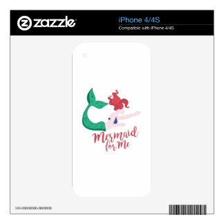 Mermaid For Me iPhone 4S Decal