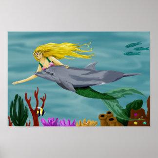 Mermaid friend poster