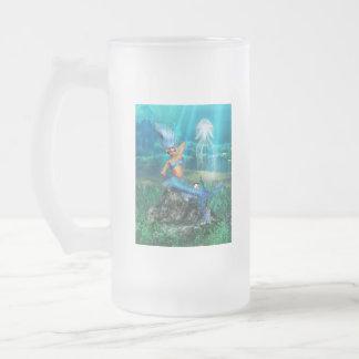 Mermaid Frosted Beer Mug