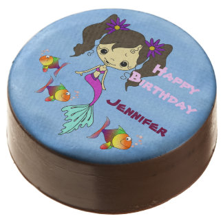Mermaid Fun Birthday Personalized Chocolate Dipped Oreo