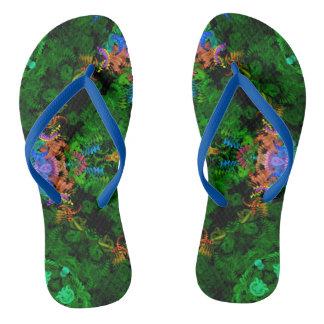 Mermaid Garden Flip-Flops Flip Flops