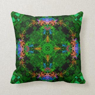Mermaid Garden Mandala Pillow