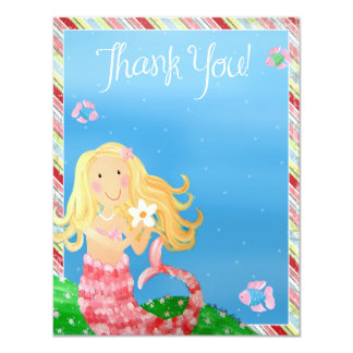 Mermaid Garden -Thank You Card
