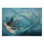 Mermaid Gift Tag Large Business Cards (Pack Of 100)