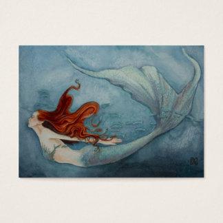 Mermaid Gift Tag Red 2
