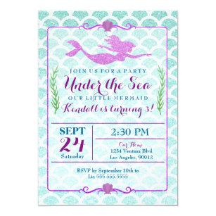 mermaid party invitations zazzle