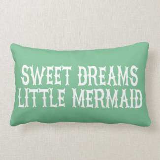 Mermaid Girls Nursery Bedroom Decor Pillow
