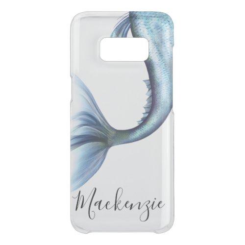 Mermaid Glitz Tech | Princess Blue Tail and Name Phone Case