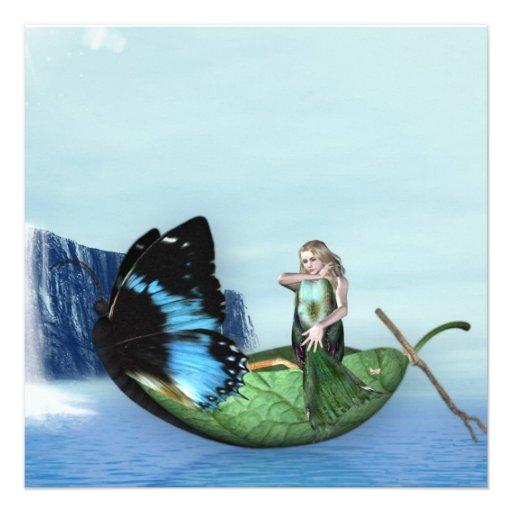 Mermaid Gondola Personalized Announcements