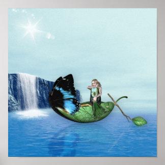 Mermaid Gondola Poster