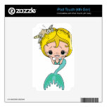 Mermaid Graphic (Blue) Decal For iPod Touch 4G
