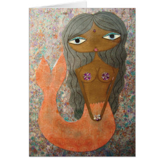 """""""Mermaid"""" greeting card by Sunny Crittenden!"""