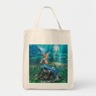 Mermaid Grocery Tote Bag