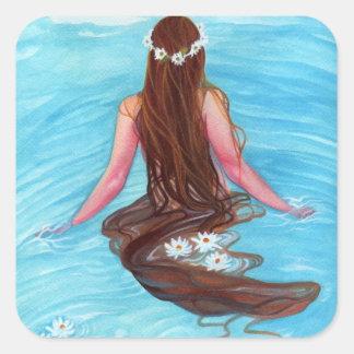 Mermaid hair fell in waves STICKER