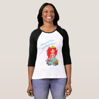 Mermaid Hair Just Don't Care Red Head Women Tshirt