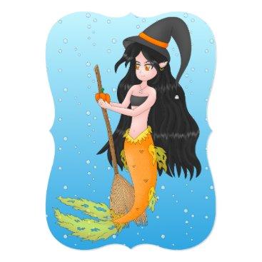 Halloween Themed mermaid halloween card