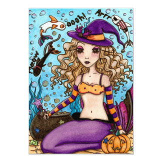 Mermaid Halloween Invitation