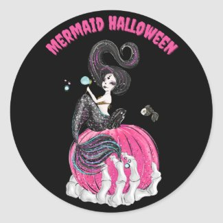 Mermaid Halloween Stickers