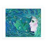 Mermaid Harmony postcard By Renee Lavoie