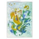 Mermaid Harpist Stationery Note Card