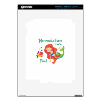 Mermaid Have More Fun Decals For iPad 3