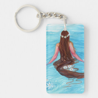 Mermaid her hair fell in waves KEYCHAIN
