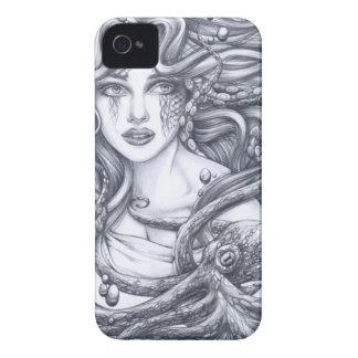 Mermaid & Her Octopus iPhone 4 Case-Mate Case