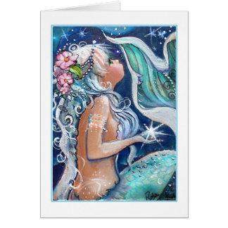 Mermaid in Blue Waters Card