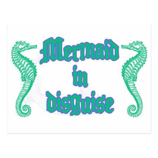 Mermaid in Disguise Post Cards