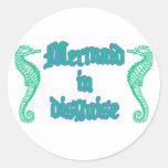 Mermaid in Disguise Round Sticker