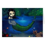 """Mermaid in Her Grotto"" Greeting Card"