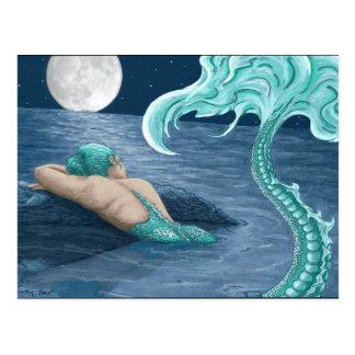 Mermaid in moonlite postcard