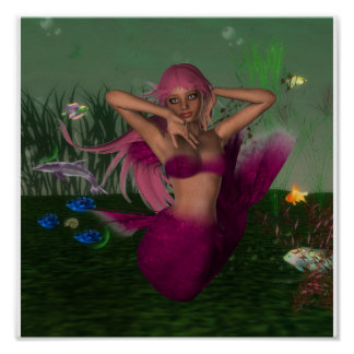 Mermaid in Sea Poster