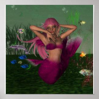 Mermaid in Sea Poster