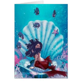 Mermaid in Shell Greeting Card