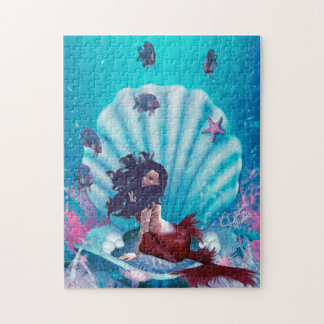 Mermaid in Shell Puzzle